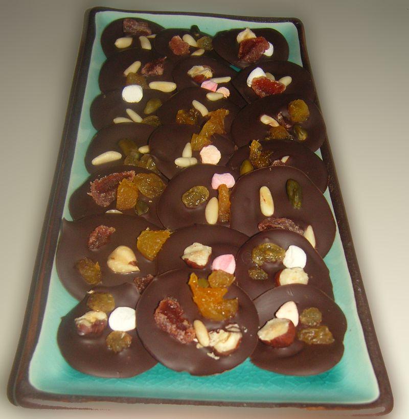 Mendiants au chocolat noir 2