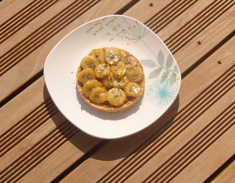 Ecrasée de petits beurre, Nutella, bananes caramélisées façon Jean-François Piege
