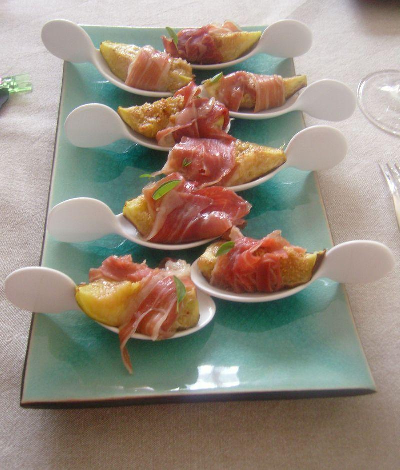 Figues rôties Parmesan Jambon de Parme