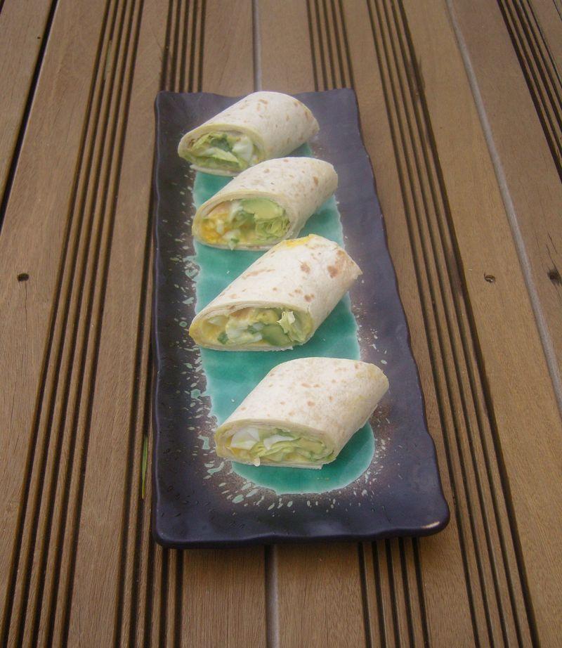 Wrap Oeuf Roquette Avocat