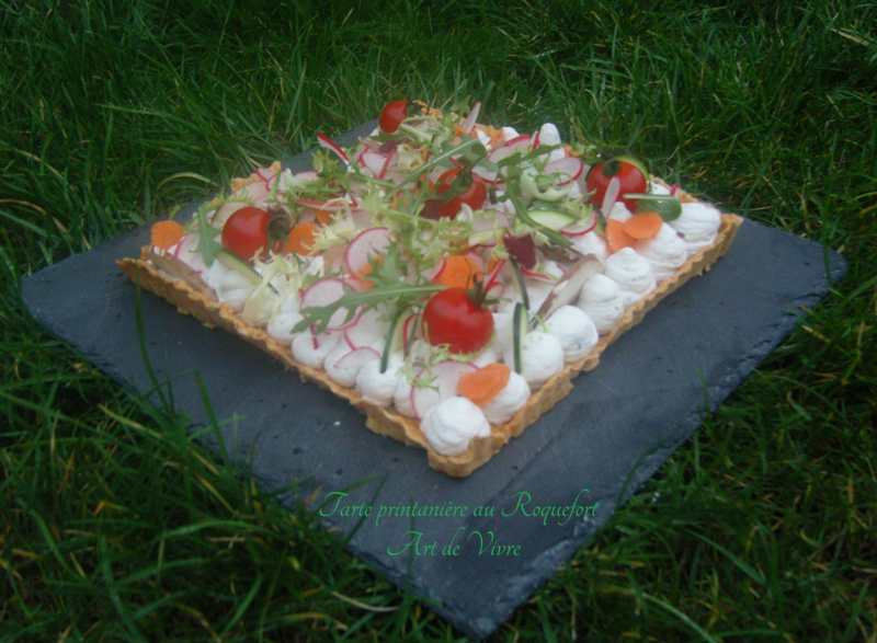 Tarte Printanière au Roquefort