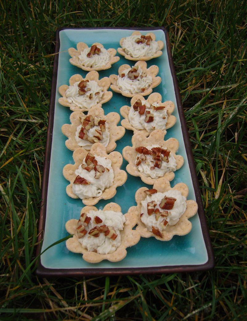 Tartelettes Roquefort Noix de Pécan