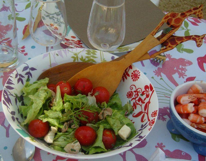 Fanes de carottes en salade