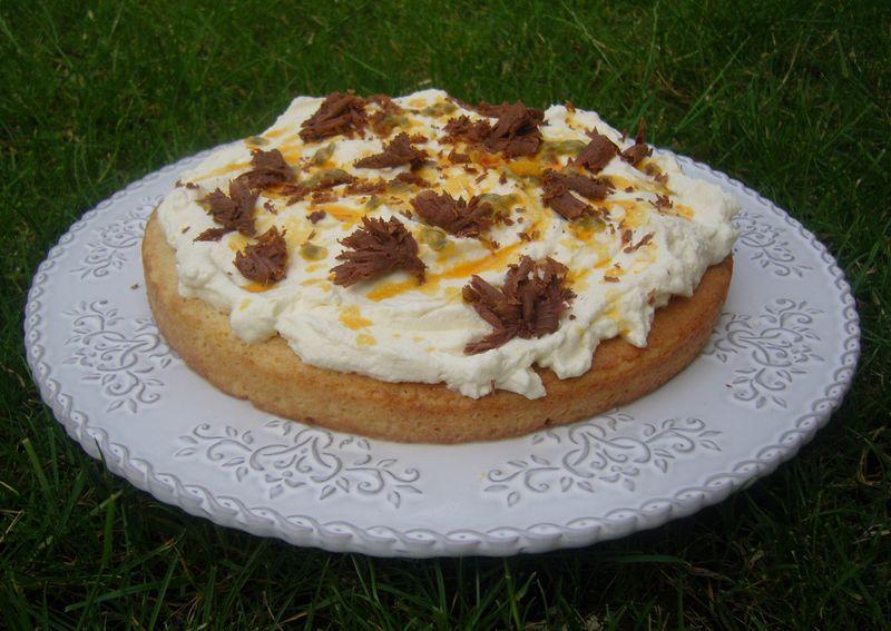 Gâteau aux trois laits fruits de la Passion Chocolat au lait