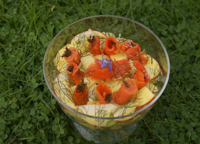 Salade d'Automne au Saumon fumé
