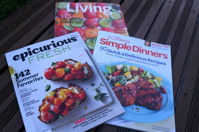 Magazines culinaires américains Juillet 2014 Epicurious Fresh, Fine Cooking Simple Dinners, Living Martha Stewart