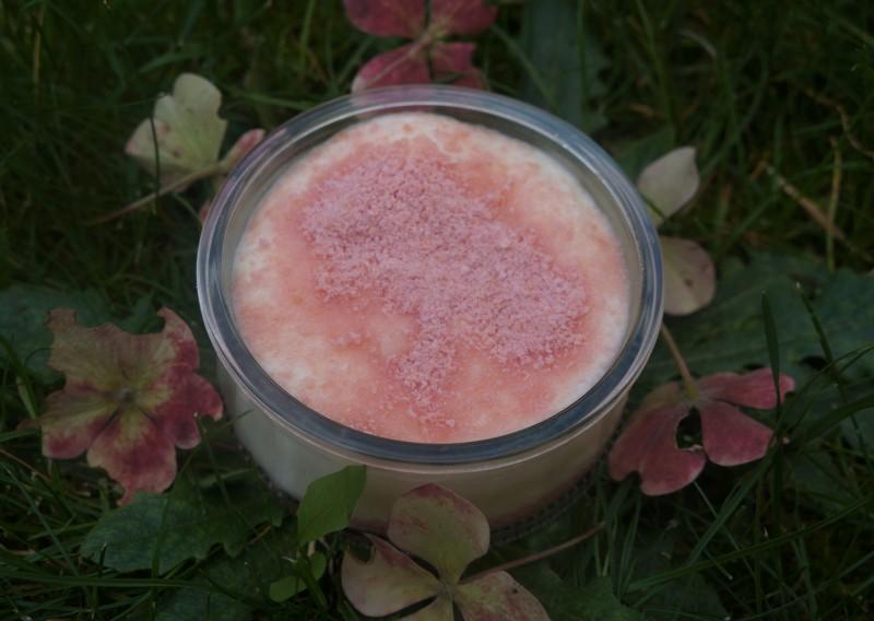 Crème glaçée aux biscuits roses de reims