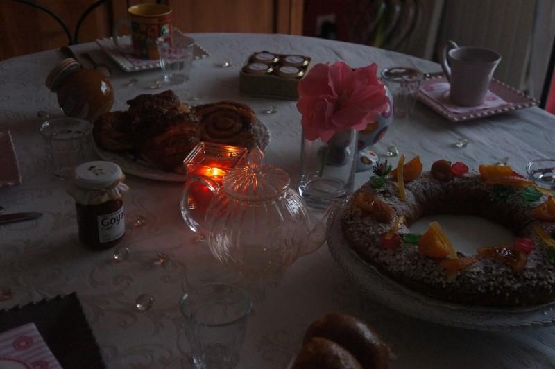 Petit déjeuner matin de noël