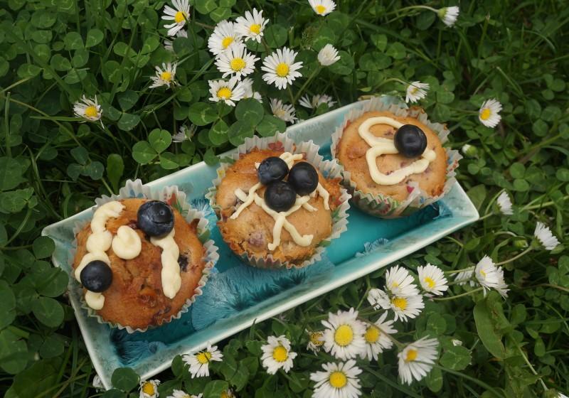 Muffins Myrtilles Chocolat Blanc inspiration Chloe Saada