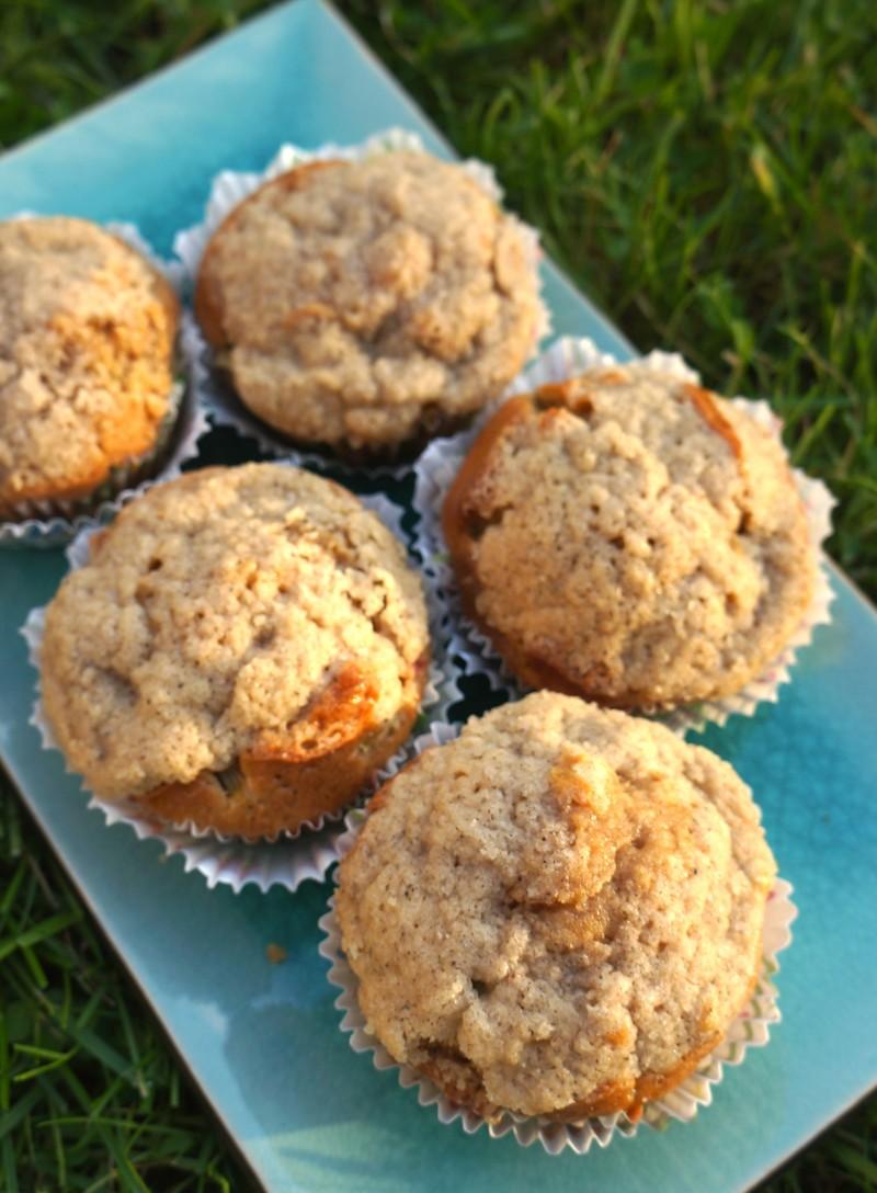 Muffin Crumble à la Rhubarbe