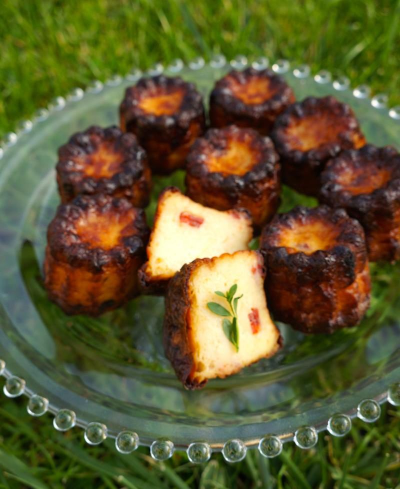Cannelés Chorizo Courgette Comté