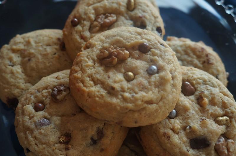 Cookie Chocolat Noir en habit de fête