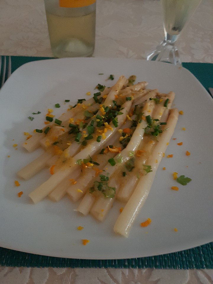 Asperges Blanches Coriandre Orange