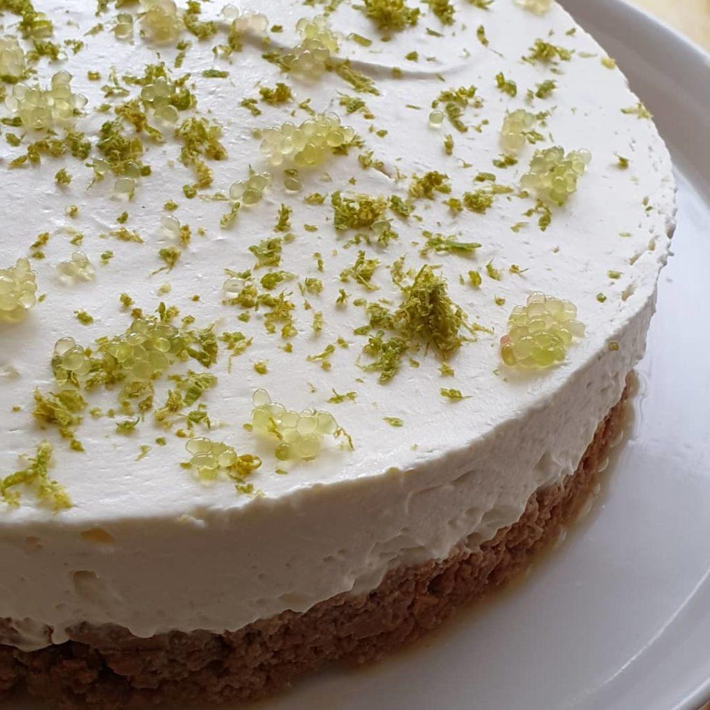Cheesecake au CItron Vert et Caviar