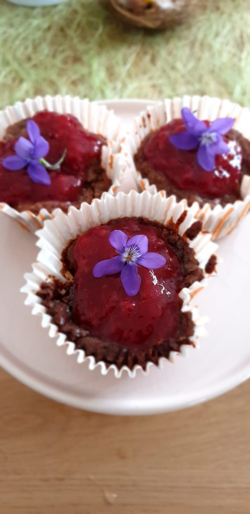 Cupcakes Chocolat Fruits Rouges sans oeufs inspiration Cyril Lignac