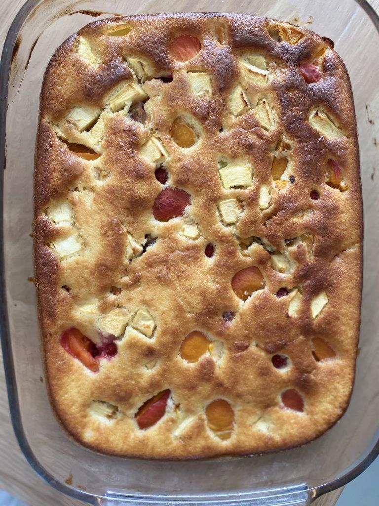 Gâteau au Fromage Blanc et Fruits d'été